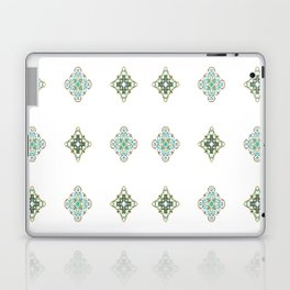 Turquoise With A Tough Of Gold Pattern Laptop & iPad Skin