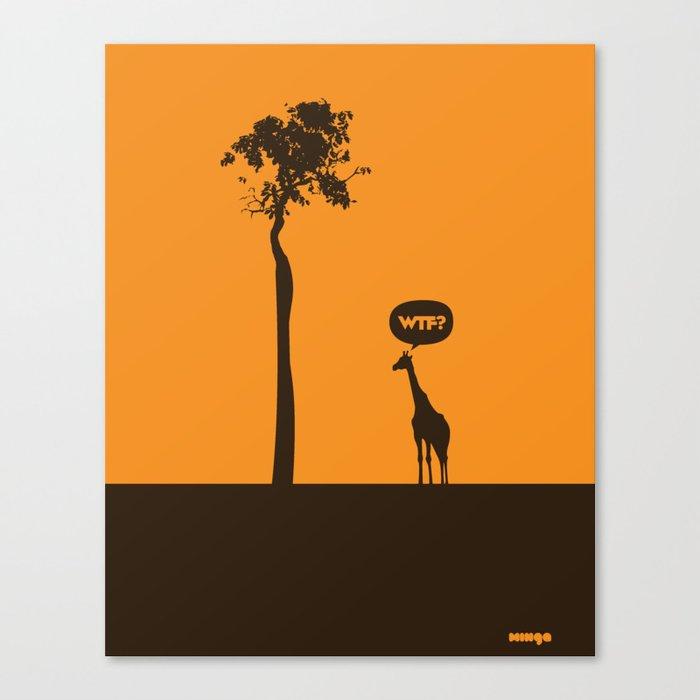 WTF? Jirafa! Canvas Print