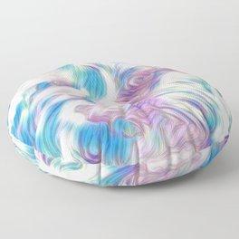 Pastel Penny the Yorkipoo art Floor Pillow