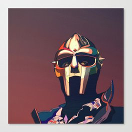 MF Doom vector art 2 Canvas Print
