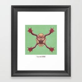 X is for Xtro Framed Art Print