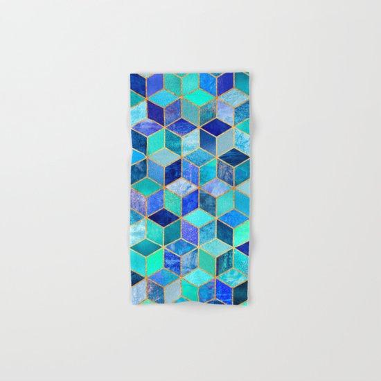 Blue Cubes Hand & Bath Towel