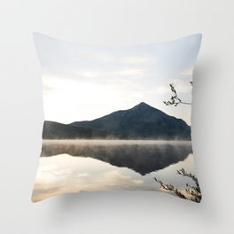 Crested Butte Reflection at Sunrise Throw Pillow