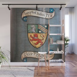vintage tea jar coat of arms london Wall Mural