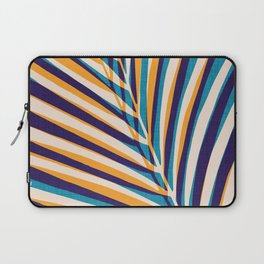 Gold and Navy Abstract Palm Frond Laptop Sleeve