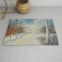 """""""Winter In The Country"""" Rug"""