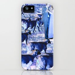 Dancing with Sheep iPhone Case