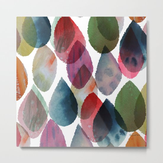 Rainbow Showers Metal Print