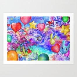 25 Balloons Art Print