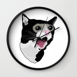 Crying Cat Meme Wall Clock