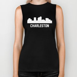 Charleston West Virginia Skyline Cityscape Biker Tank