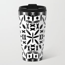 Mandala Square Black Travel Mug