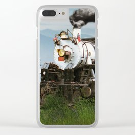 Smokey Mountain Railway Steam Locomotive Clear iPhone Case