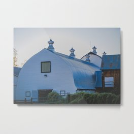 Creamers Dairy and Barn, Fairbanks Alaska Metal Print