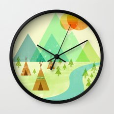 Native Lands Wall Clock