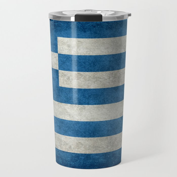Greek flag in retro grunge Travel Mug