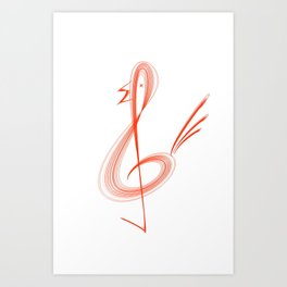Treble clef Art Print