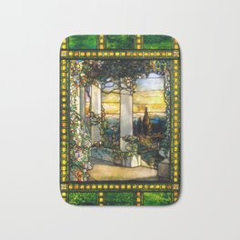 "Louis Comfort Tiffany ""Howell Hinds House Window"" Bath Mat"