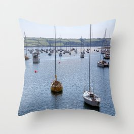 Mylor Yachts from Greatwood Quay Throw Pillow