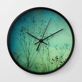 Between Autumn and Winter Wall Clock