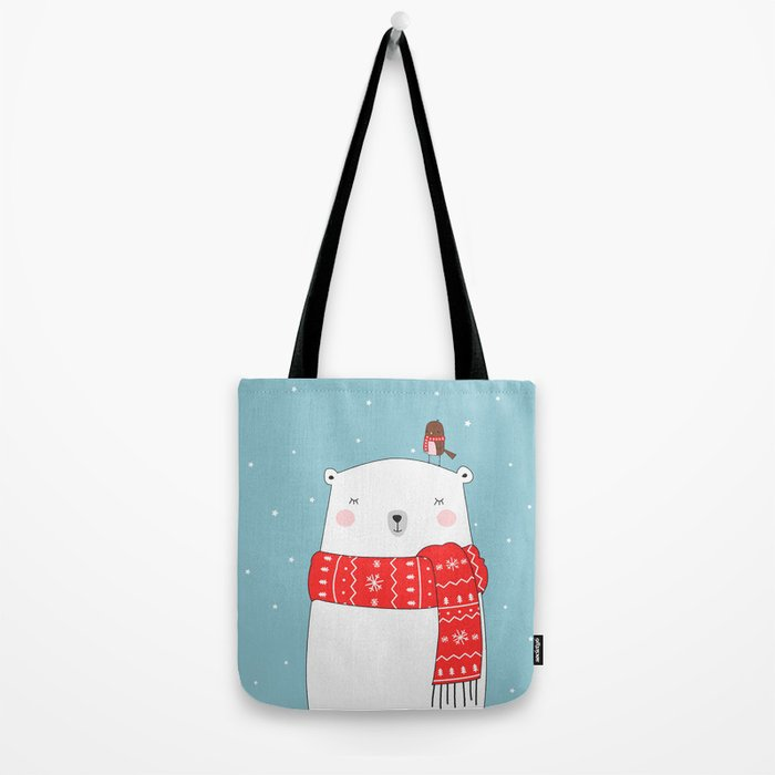 POLAR BEAR&LITTLE BIRD CHRISTMAS Tote Bag