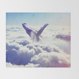 Cloudy whale Throw Blanket