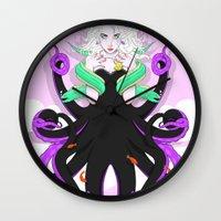 ursula Wall Clocks featuring Ursula by Sergio Saucedo