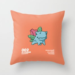 002 Ivysaur Throw Pillow