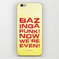 bazinga iPhone & iPod Skins featuring Bazinga! by Cloz000