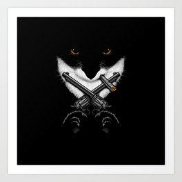 Mafiacat Art Print