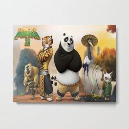 kungfu panda Metal Print