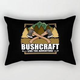 Live The Adventure - Bushcraft Camping Rectangular Pillow