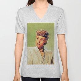 Evelyn Keyes, Vintage Actress Unisex V-Neck