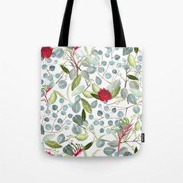 Eucalyptus Kangaroo paw watercolor floral design Tote Bag