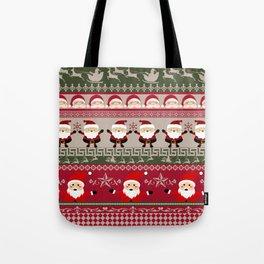 Santa Claus Ugly Sweater Tote Bag