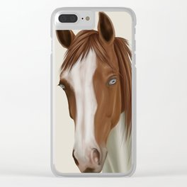 Chestnut Paint Clear iPhone Case