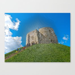 York, Cliffords tower in plastic Canvas Print
