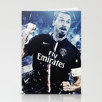 zlatan Stationery Cards featuring Zlatan Ibrahimovic by Max Hopmans / FootWalls