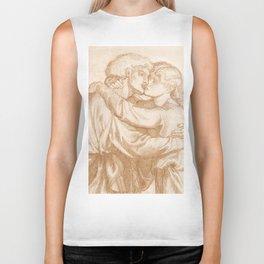 """Dante Gabriel Rossetti """"Study of two Lovers embracing"""" Biker Tank"""