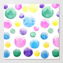 cheerful colorful bubbles Canvas Print