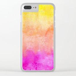 Bright Sunrise Tones Clear iPhone Case