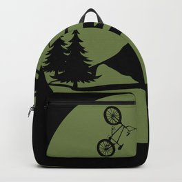BMX Bike Freestyle Fall Graphic Funny Backpack
