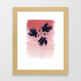 Ombre Ravens Framed Art Print