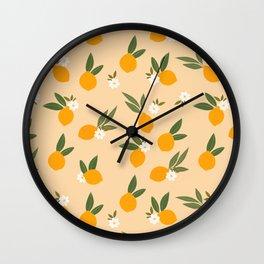 Cute Oranges Wall Clock