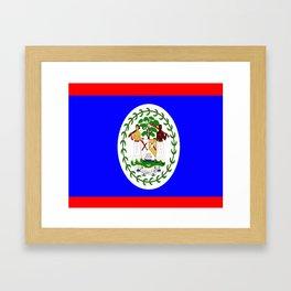 Flag of Belize Framed Art Print