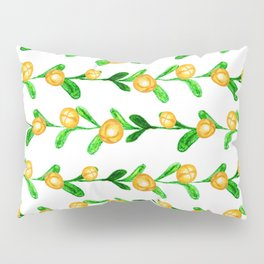 fences with golden sphere bell on tree branch Pillow Sham