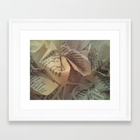 literature Framed Art Prints featuring Literature 4 by Genevieve Moye