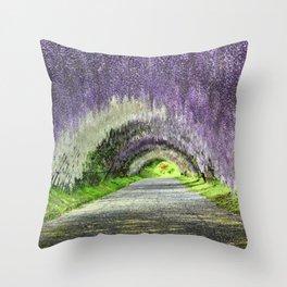Wisteria Canopy Throw Pillow