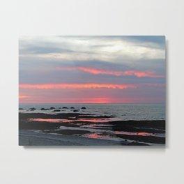 Texture Filled Clouds Metal Print