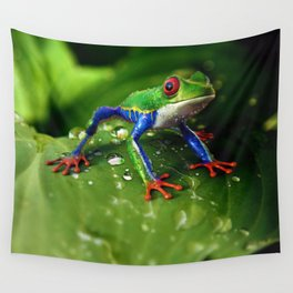 Tree Frog Wall Tapestry